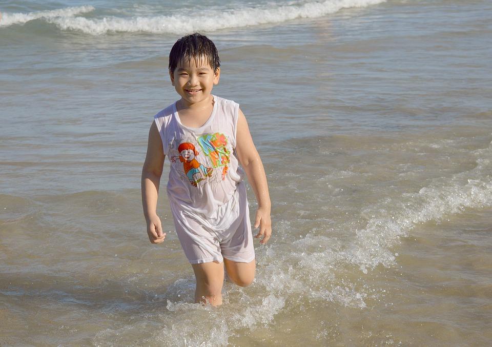 Boy, Kid, Beach, Fun, Vietnam, Sea, Summer, Vacation