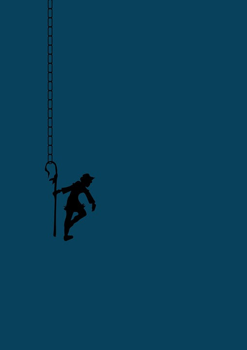 Joker, Clown, Chain, Solo, Alone, Fun, Hanging, Cartoon