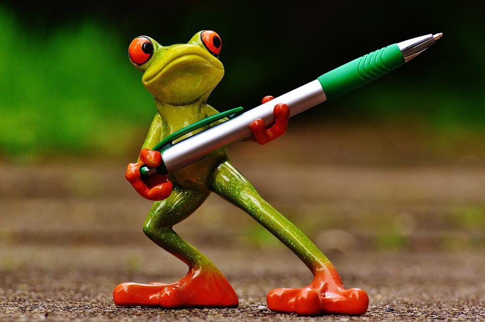 Frog, Holder, Pen, Keep, Cute, Fun, Fig, Sweet, Office