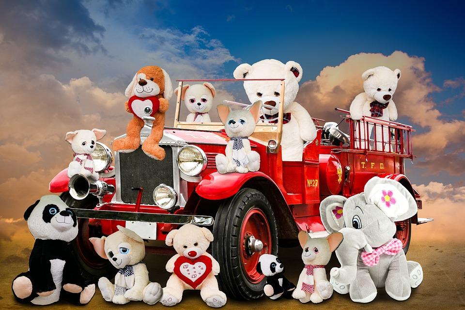 Emotions, Fun, Cheerful, Soft Toys, Fire, Teddy