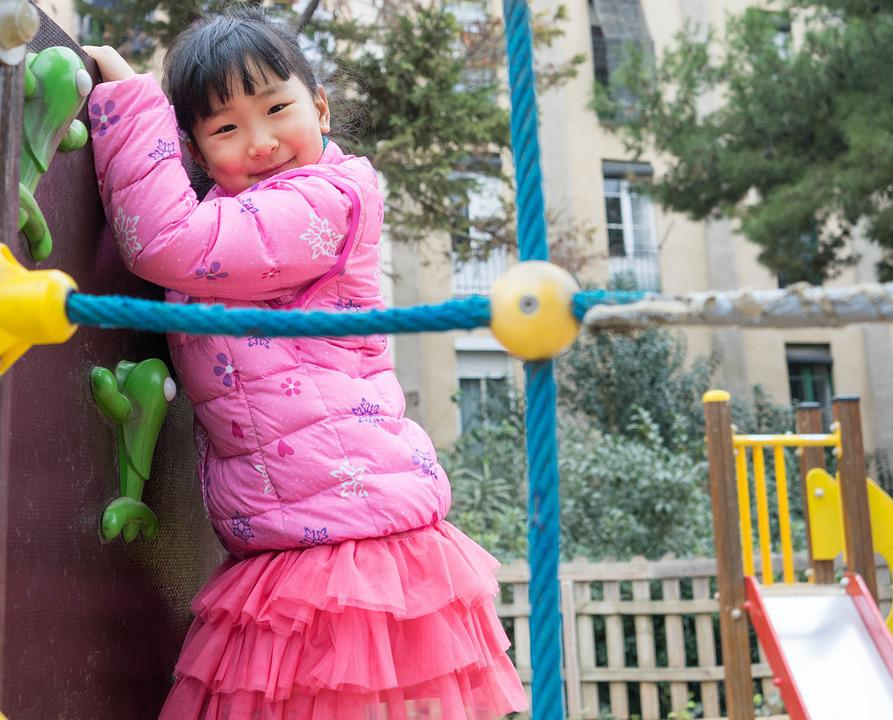 Child Playing, Girl, Person, People, Happy, Fun