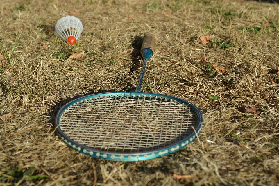 Badminton, Racket, Shuttlecock, Game, Play, Fun, Grass