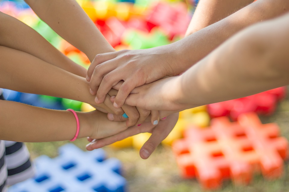 Hands, Friendship, Friends, Children, Color, Fun