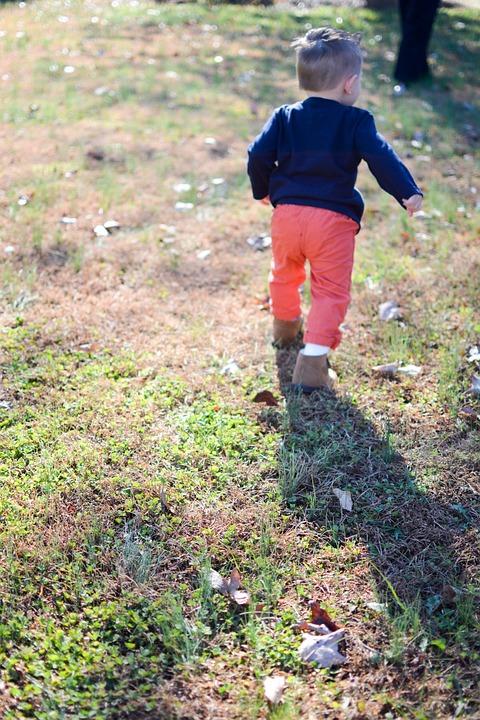 Boy, Running, Toddler, Happy, Child, People, Fun