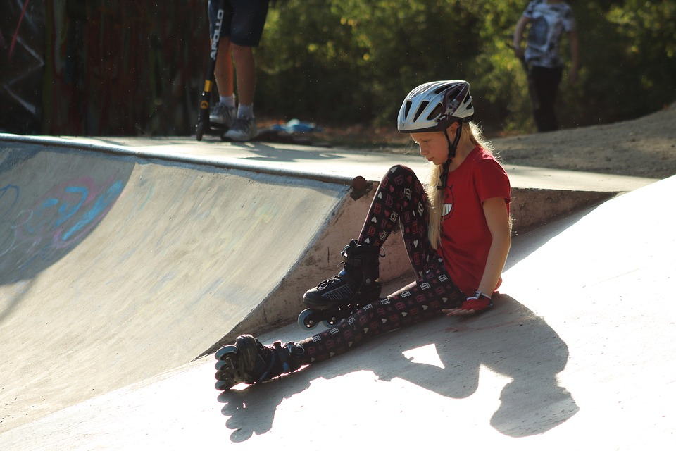 Skate Park, Inline Skates, Youth, Children, Fun, Tricks