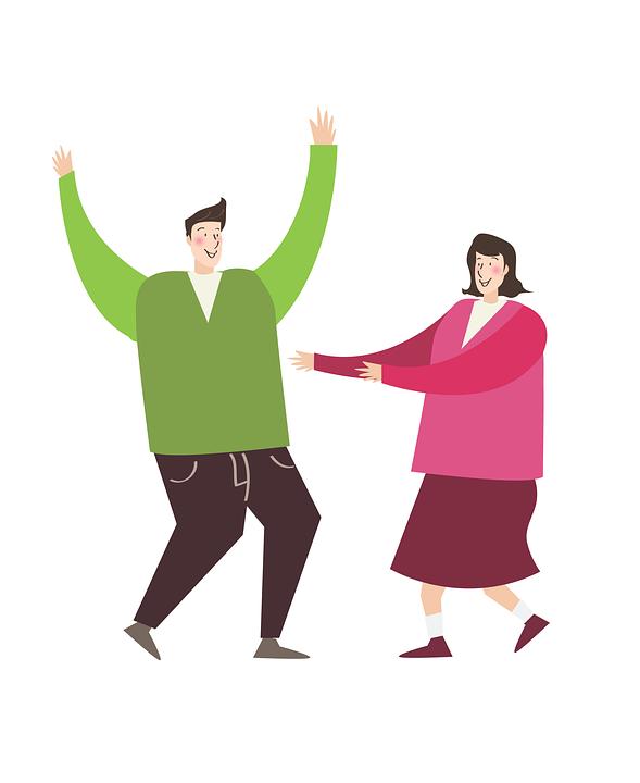 Man, Women, Couple, Joy, Dancing, Dance, Fun, Together