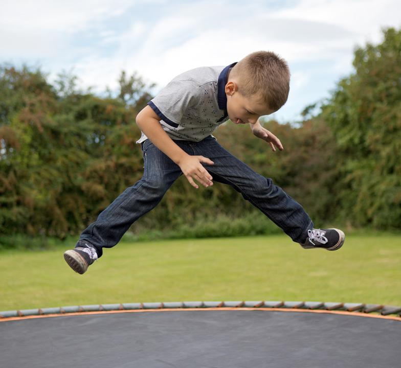 Trampoline, Boy, Little, Child, Kid, Fun, Jump, Play