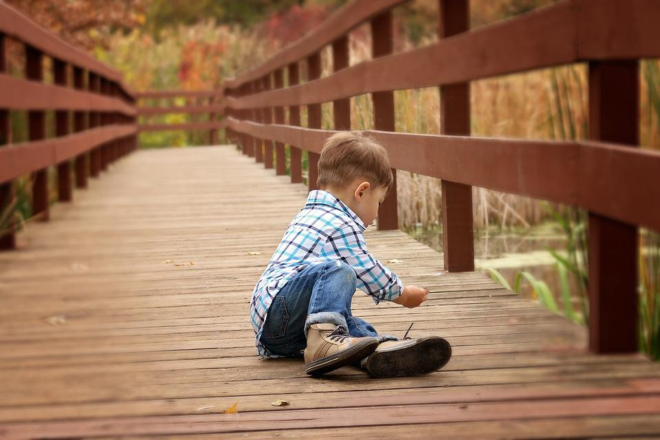 Boy, Fishing, Fall, Bridge, Portrait, Kid, Youth, Fun