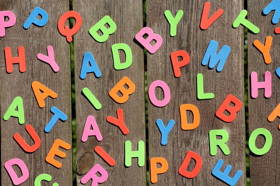 Letters, Colorful, Education, Fun, The Background