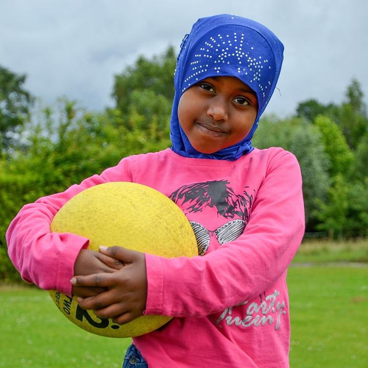 Girl, Child, Refugee, Fun, Friendly, Migration