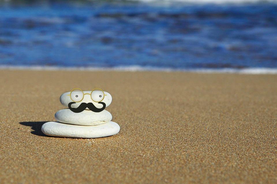 Beach, Fun, Moustache