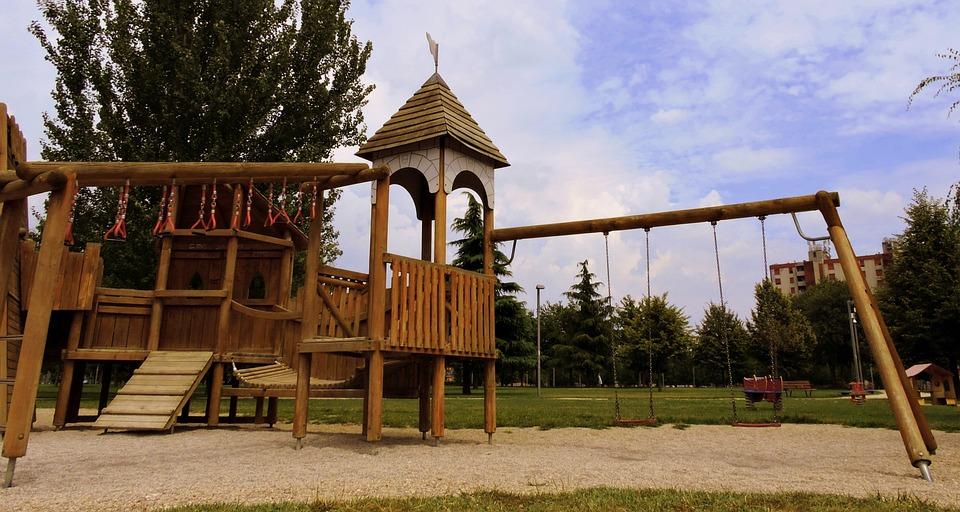 Playground, Rock Climbing, Swing, Game, Park, Fun, Wood