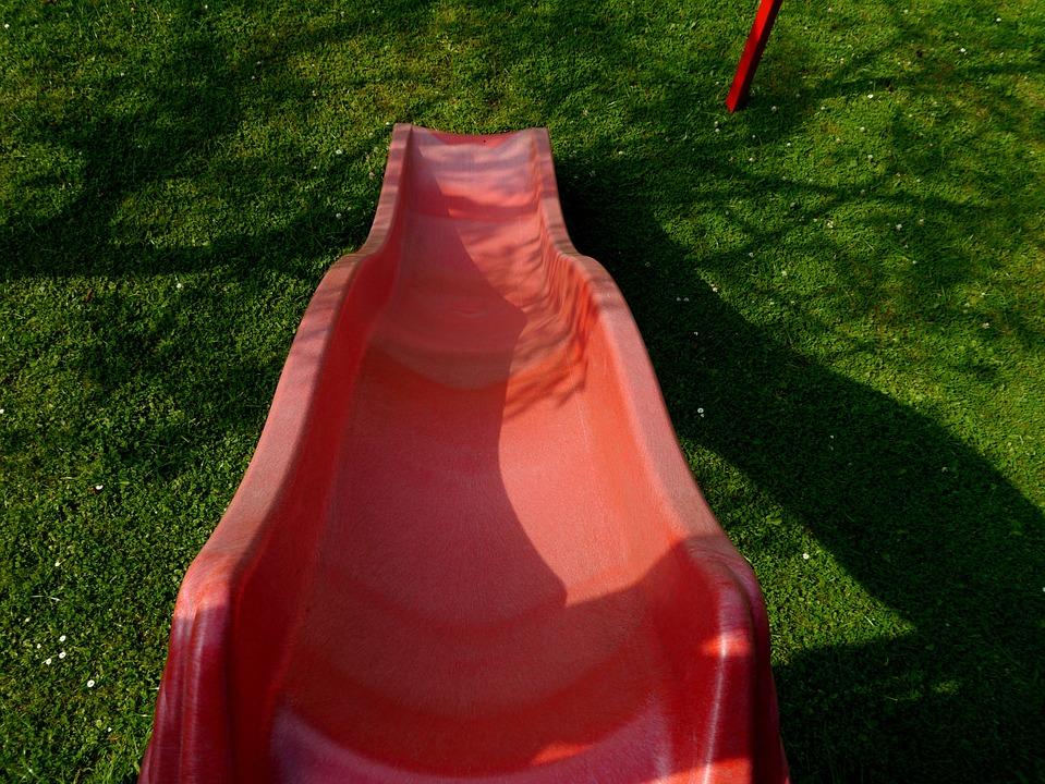 Slide, Playground, Red, Playset, Fun, Children's