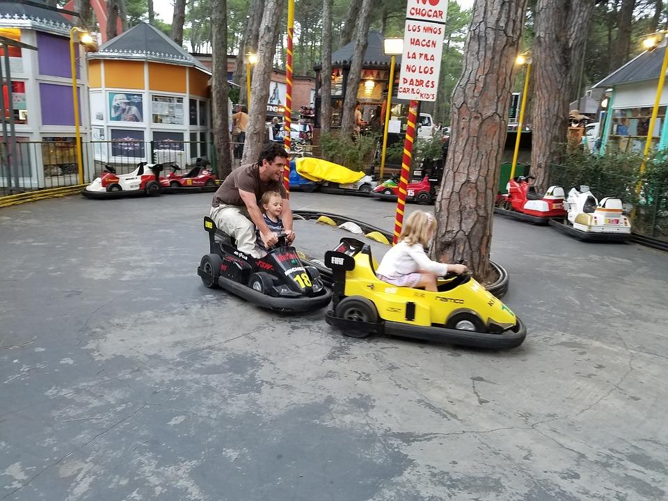 Cars, Karting, Children, Playing, Game, Fun, Plaza