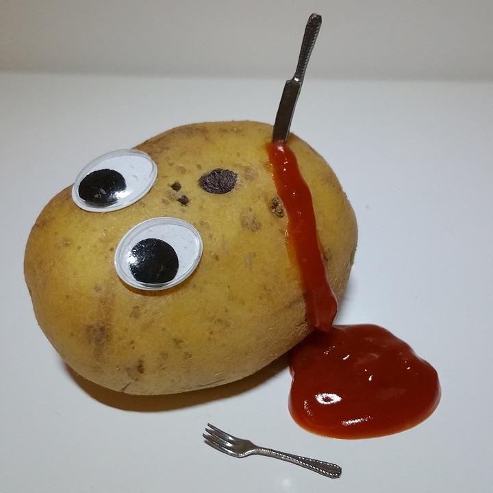 Potatoes, Ketchup, Murder, Blood, Funny, Fun, Knife
