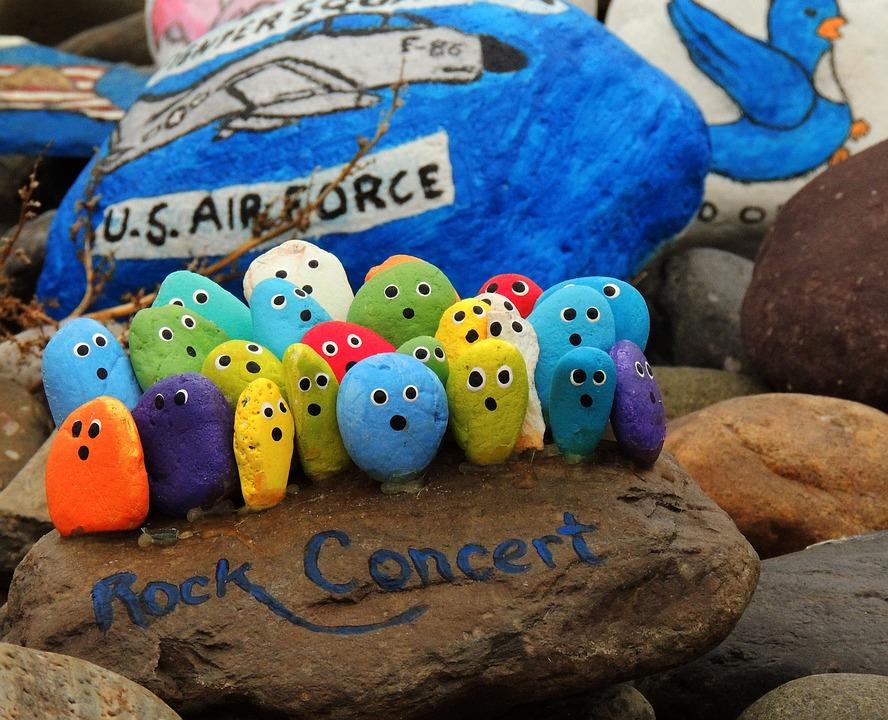 Rocks, Rock Concert, Painted Rocks, Paint, Fun, Colors