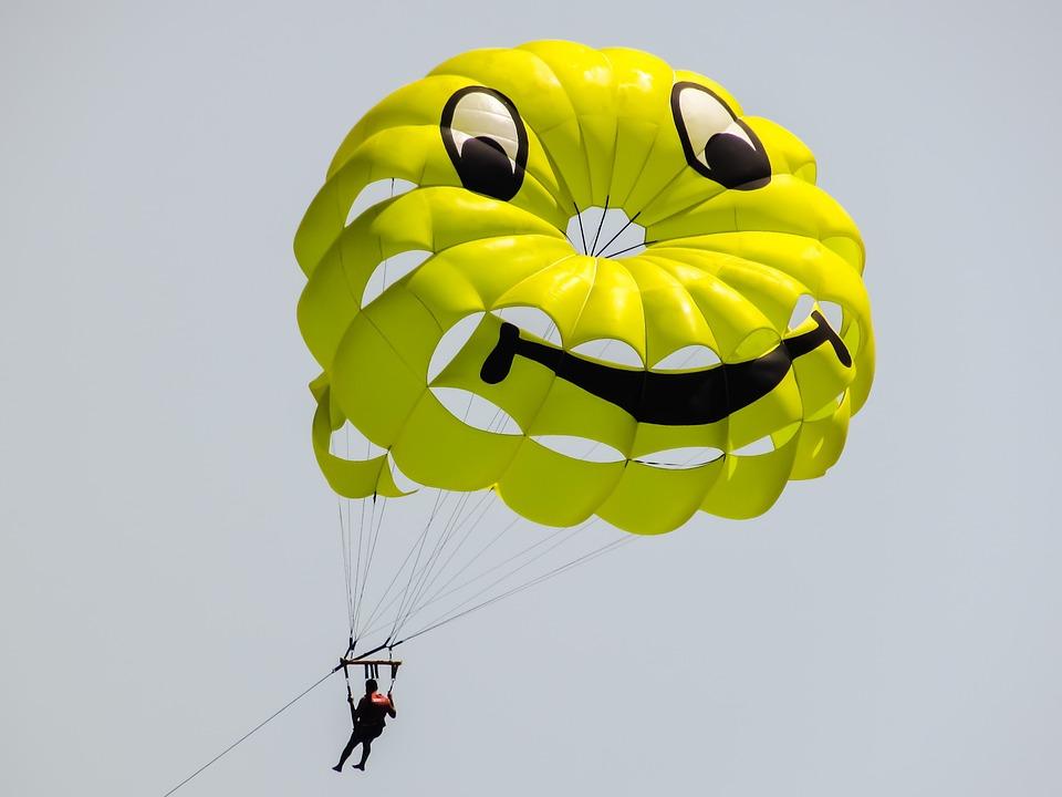 Smile, Smiling Face, Happy, Parachute, Paragliding, Fun