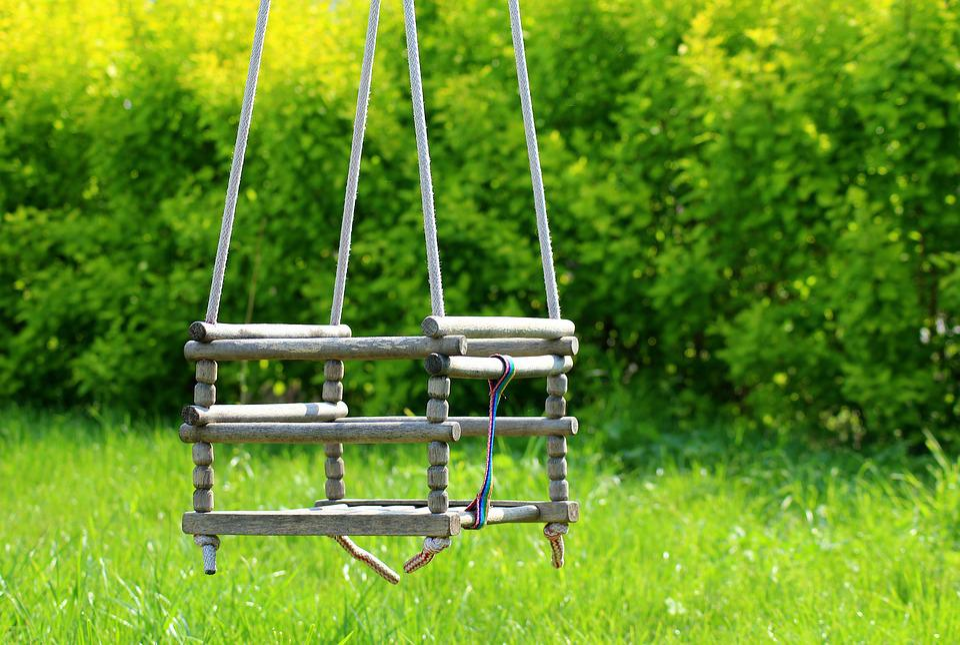 Garden, Swing, Wooden, Old, Fun, Childhood, Memories