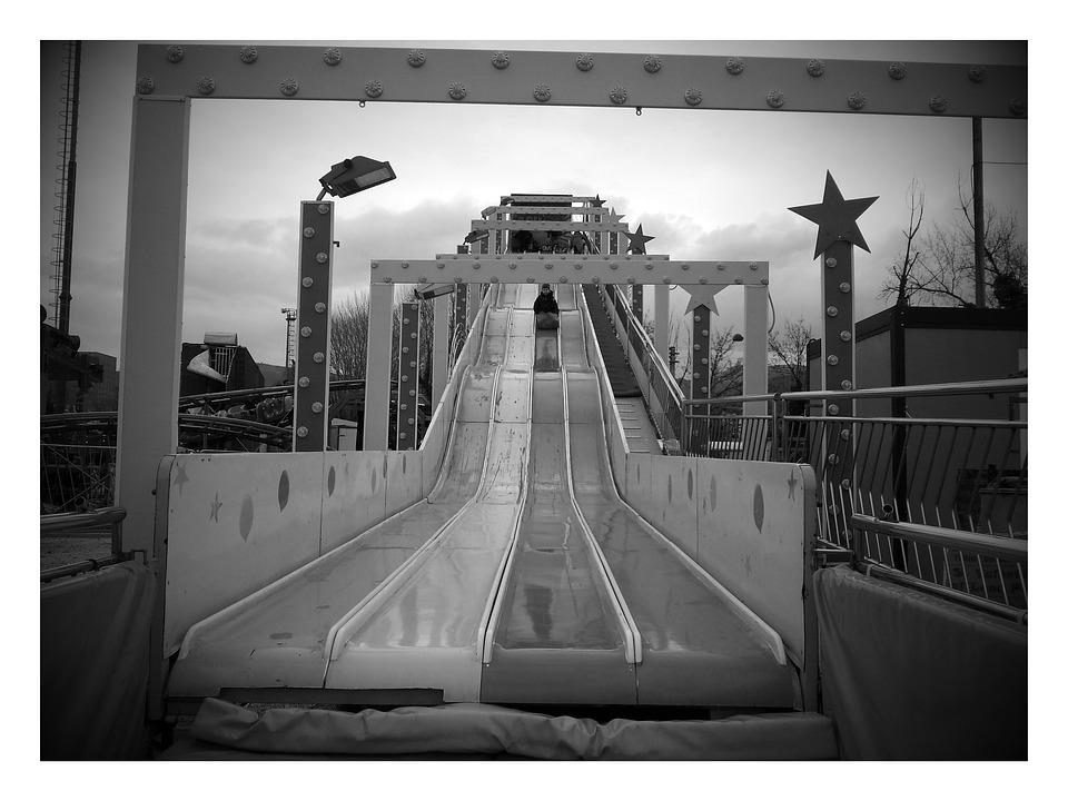 Slide, Funfair, Rides, Fun, Joust, Swing, Lights