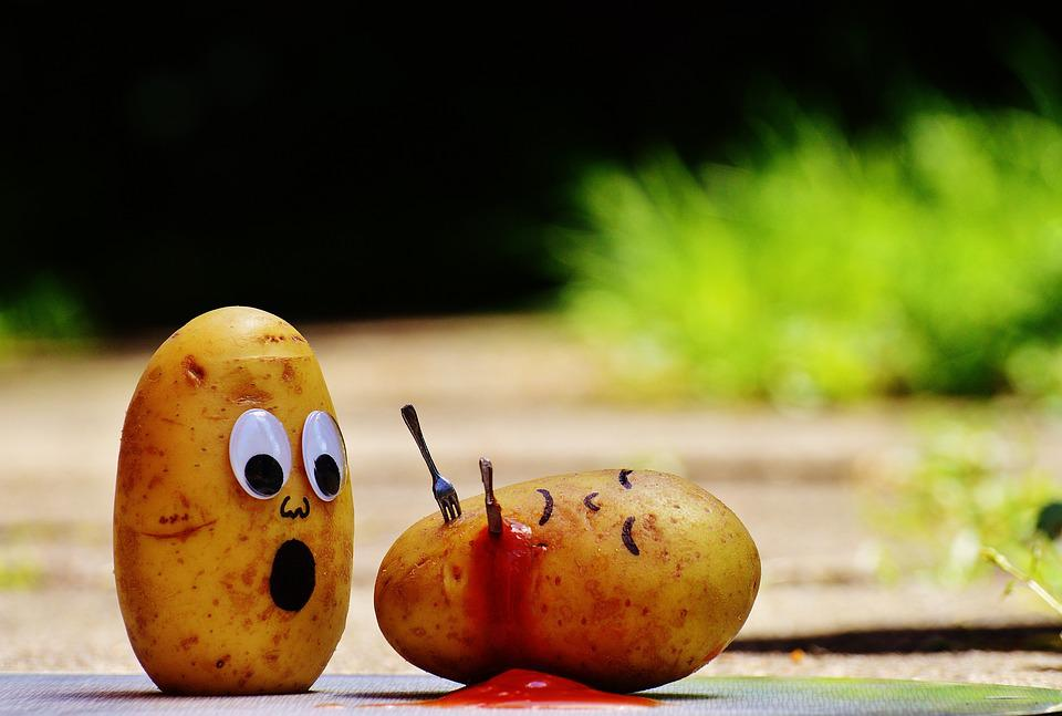 Free photo Funny Blood Ketchup Potatoes Murder Fun Knife - Max Pixel
