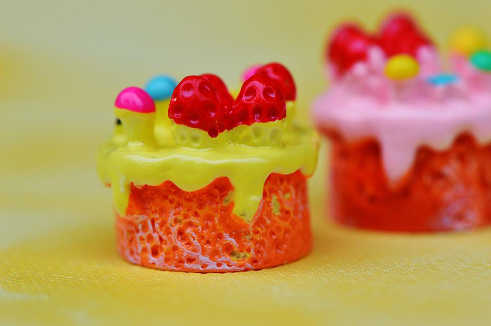 Cupcake, Cake, Miniature, Ceramic, Funny, Decoration