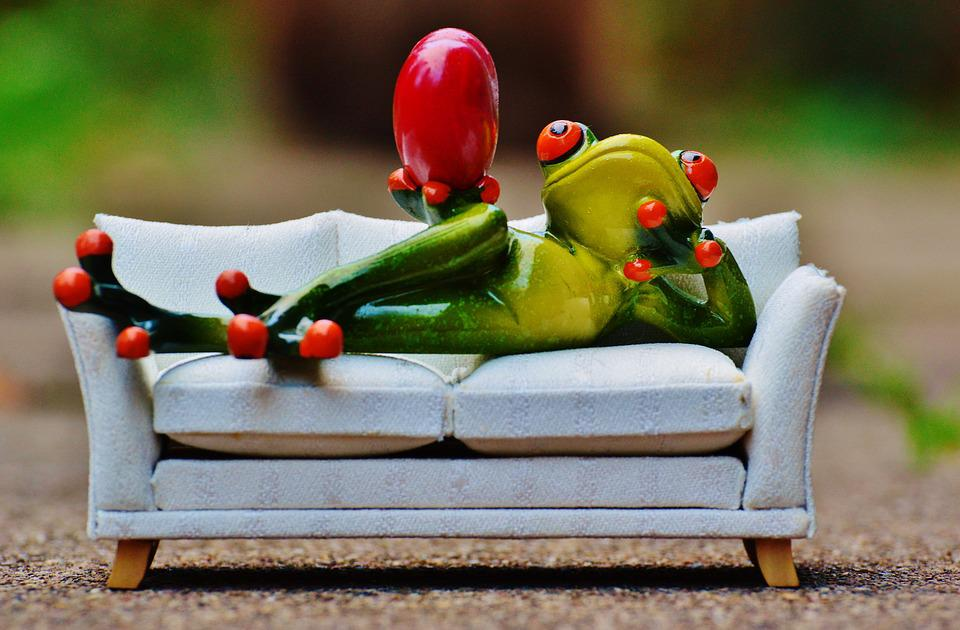 Frog, Love, Sofa, Heart, Fig, Funny, Cute, Concerns