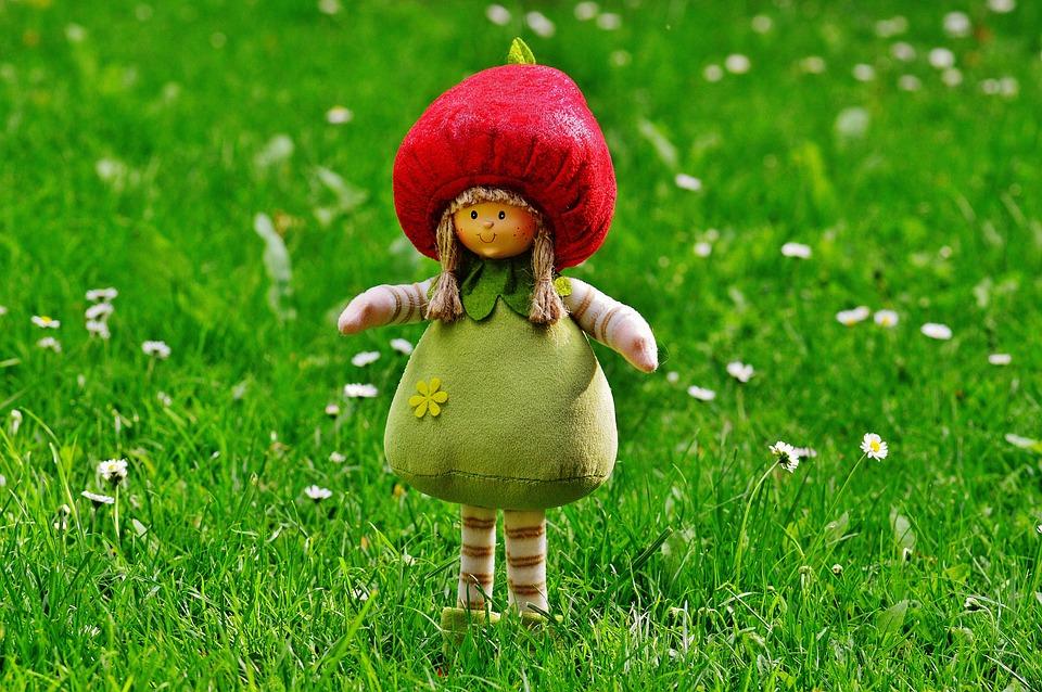 Dwarf, Imp, Sweet, Funny, Figure, Cute, Spring Imp