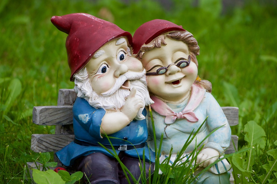 Grass, Meadow, Dwarf, Dwarf Pair, Fun, Funny