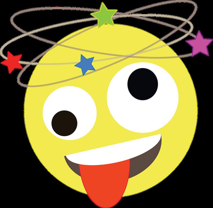 Dizzy, Emoji, Emoticon, Funny, Drunk, Smiley, Yellow