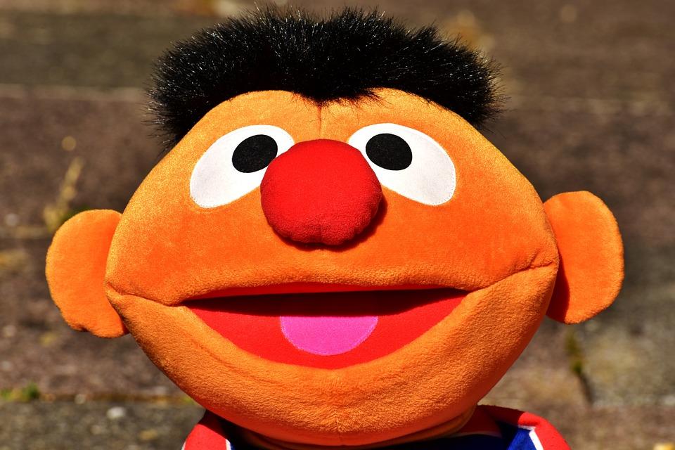 Ernie, Soft Toy, Figure, Children Toys, Fun, Funny