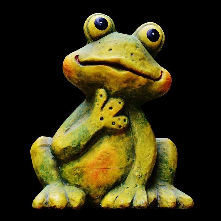 Frog, Funny, Figure, Cute