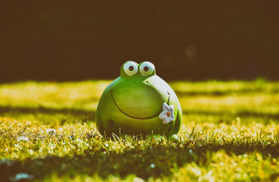Frog, Figure, Meadow, Funny, Ceramic, Fun, Animal