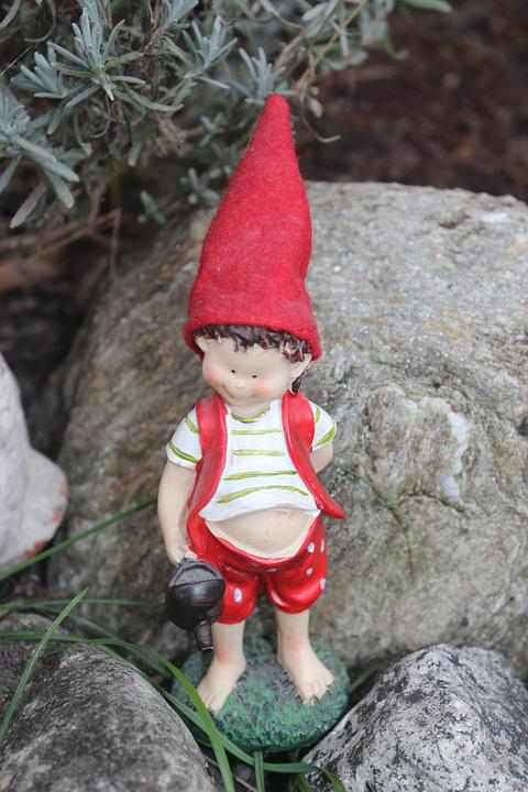 Imp, Gnome, Garden, Are, Funny, Garden Gnome, Fabric