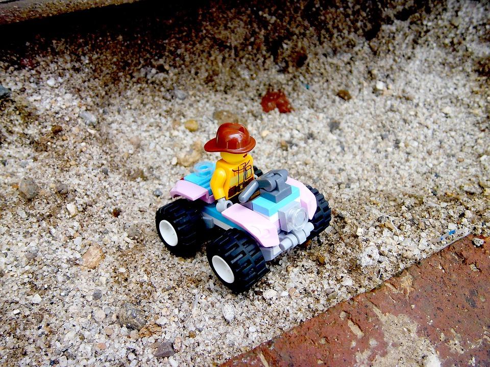 Lego Man, Quadricycle, Toys, Kids, Funny, Lego