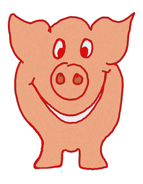 Lucky Pig, Pig, Luck, Happy, Laugh, Funny, Smile