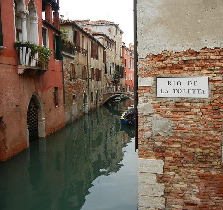 Venezia, Venice, Channel, Italy, Romantic, Funny
