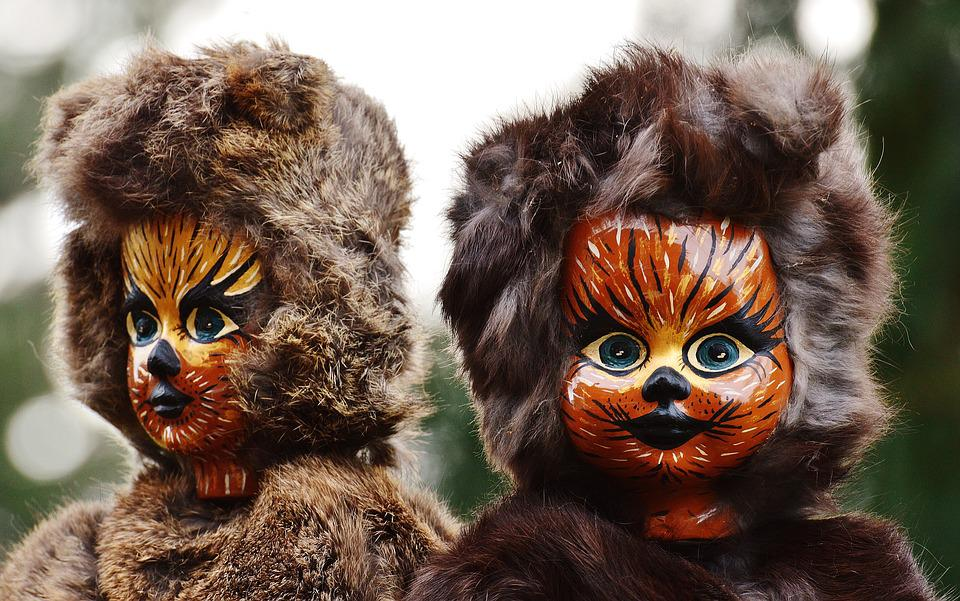 Doll, Cat, Painting, Fur, Mask, Funny, Fig, Carnival