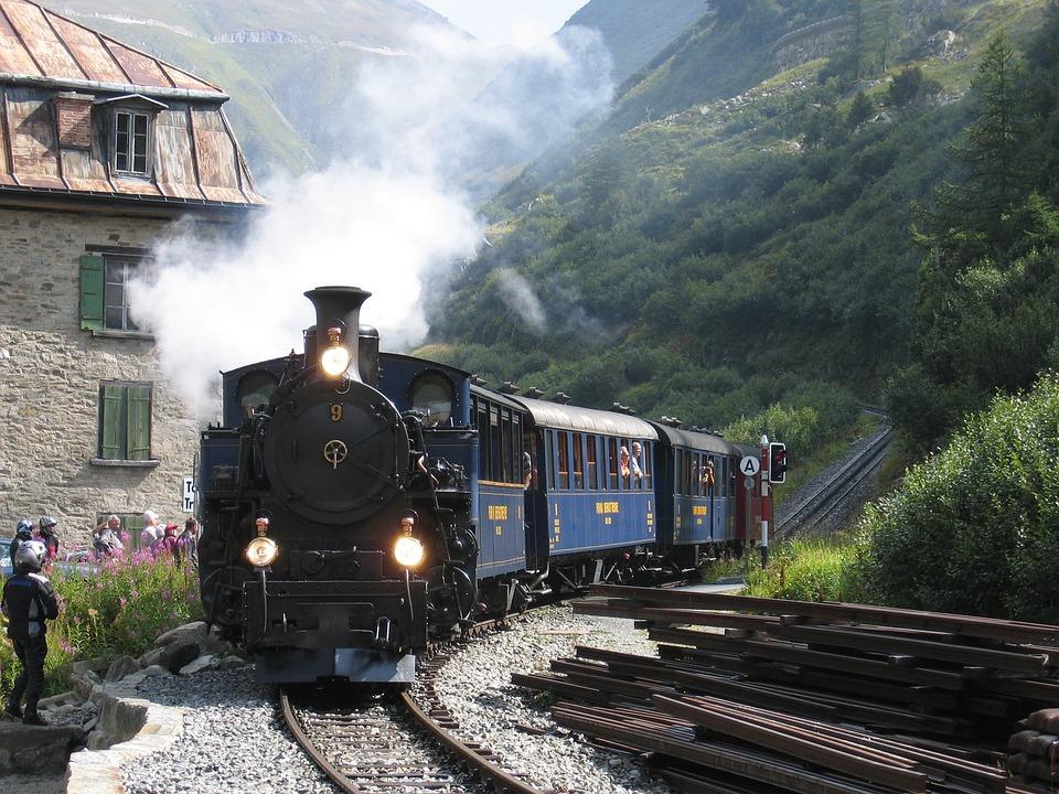 Steam Railway, Furka, Switzerland, Steam Locomotive