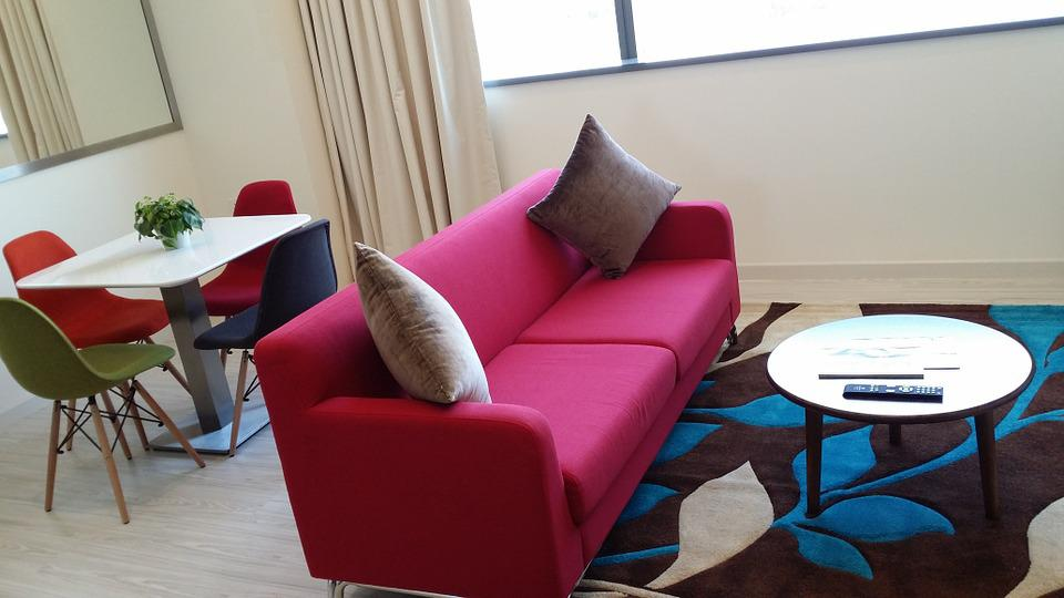 Sofa, Hotel, Furniture, Decor, Couch, Accommodation