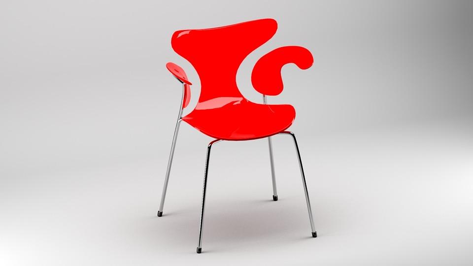 Chair, 3d, Furniture, Decor, Design, Business