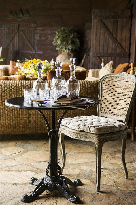 Chair, Table, Wine, Drink, Furniture, Decoration, Decor
