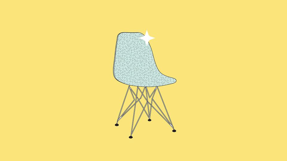 Chair, Design, Pattern, Yellow, 1960, 60's, Furniture