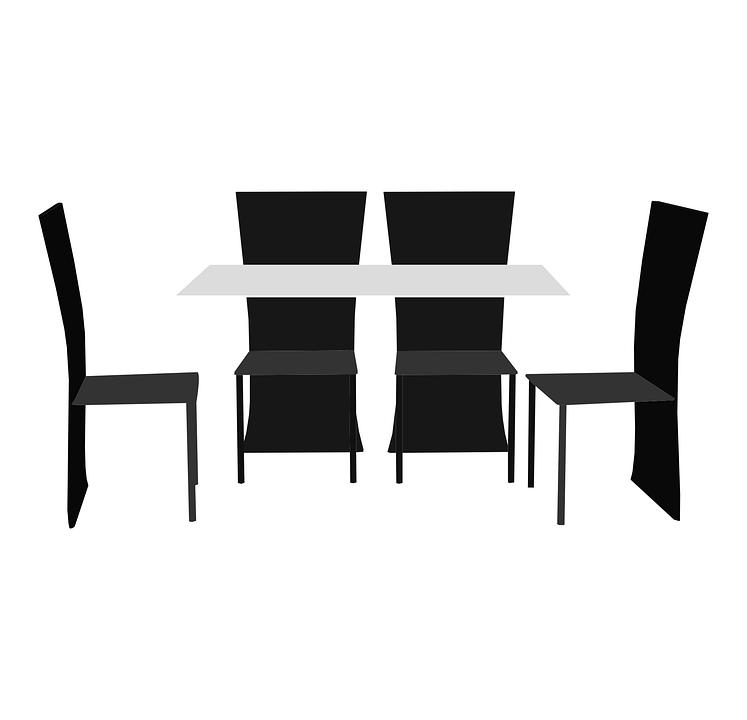 Table, Chairs, Design, Interior, Furniture, Modern