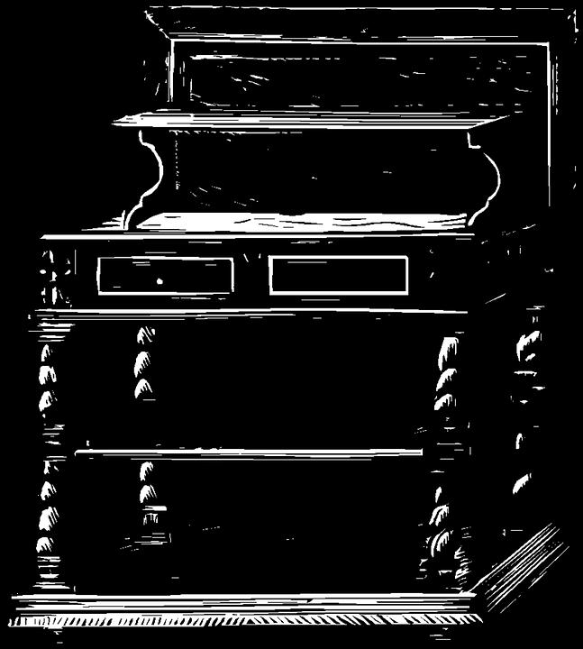 Desk, Vintage, Furniture, Clip Art, Old, Antique