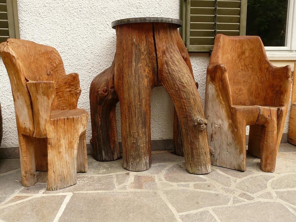 Furniture, Table, Chair, Wood, Garden Furniture