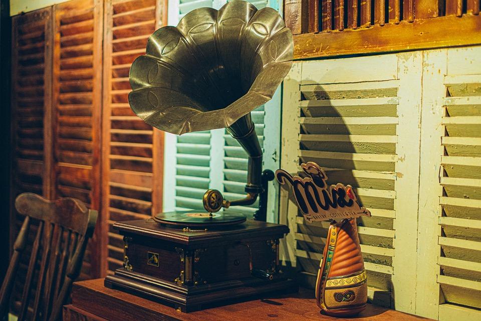 Turntable, Furniture, Decor, Retro, Antique, Coffee