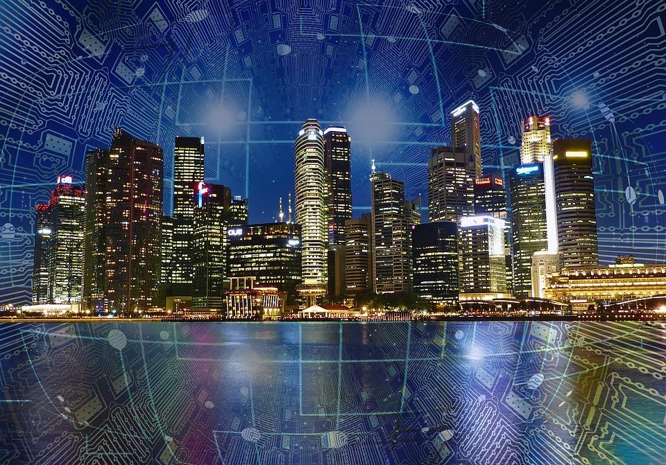 City, Smart, Modern, Future, Connect, Buildings