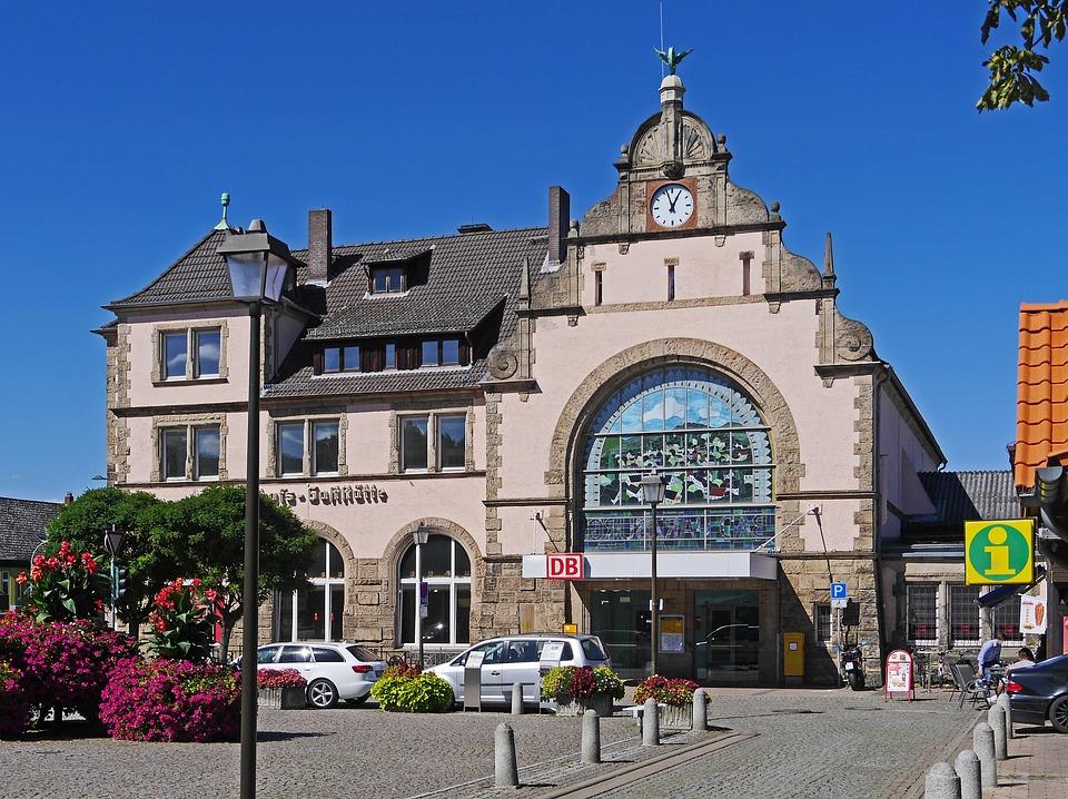 Railway Station, Bad Harzburg, Station Building, Gable