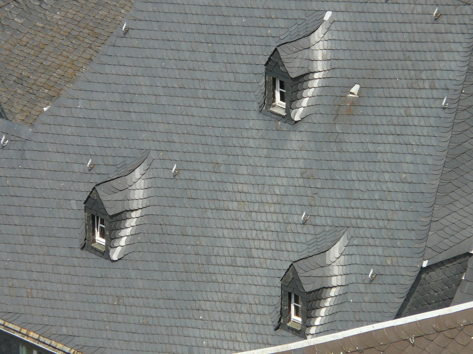 Roof, Slate Roof, Gable, Giebelfenster, Roof Plate