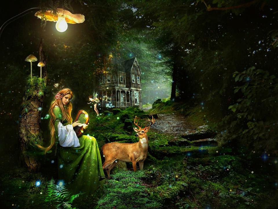 Fantasi, Karakter, Wanita Muda, Peri, Fairi, Gadis